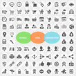 Set of Business Work Communication Icons