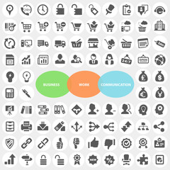 Set of Business Work Communication Icons