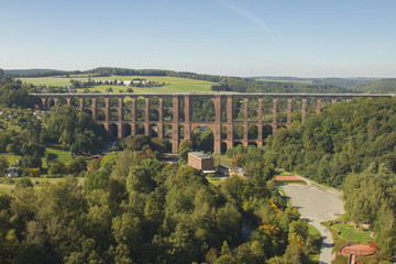 Aeriel view to Goltzsch Viaduct