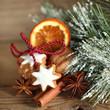 Closeup weihnachtliche Zimtsterne