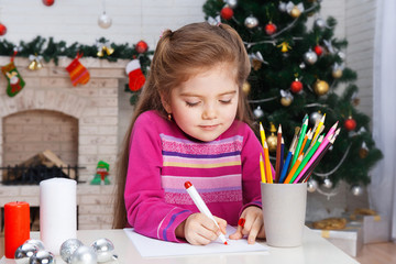 Little girl writes letter to Santa