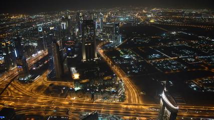 Night view on Dubai city