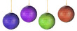multicolored christmas-balls isolated
