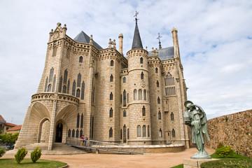 Gaudi palace in Astorga, Leon, Spain