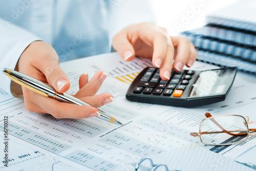 Leinwandbild Motiv Business accounting