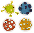 Eyed Planets Or Germs Set
