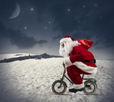 Santa claus on the bike