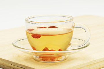 cup of wolfberry tea