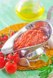 tomato sauce and ingredients for sauce
