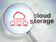 Cloud computing concept: Cloud Network and Cloud Storage with op