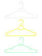 Plastic clothes hanger isolated on white background