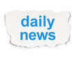 News concept: Daily News on Paper background