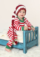 Baby in Christmas Outfit