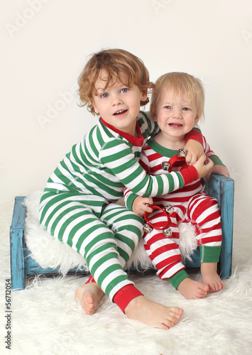 Kids Children in Christmas outfits