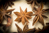 star anise on the chopping board