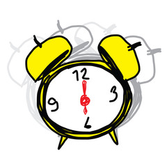 sketch illustration of the alarm clock