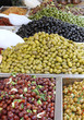 tasty olives for sale at vegetable market directly from producer