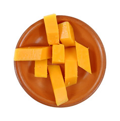 Cheese Stick Sliced Ceramic Dish