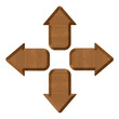 set of brown arrows