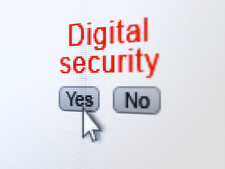 Privacy concept: Digital Security on digital computer screen