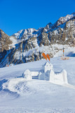Snow fort in mountains ski resort - Innsbruck Austria