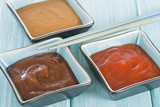 Asian Style Dips - Hoisin sauce, soybean paste and chili sauce