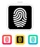 Fingerprint and thumbprint icon.