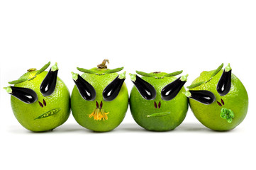 Ufo lime faces