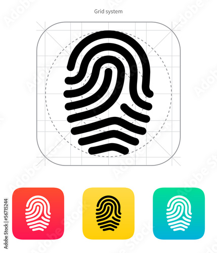 Fingerprint loop type icon.