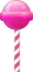 Вкусный розовый леденец