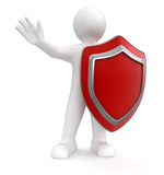 Man with Shield (clipping path included)