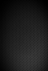 Black carbon exagonal texture. Industrial background