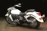 white powerful motorcycle