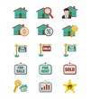 real estate icon sets - flat style icon sets
