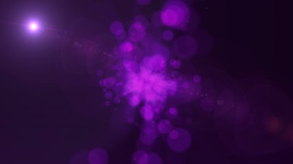 Purple Glowing Circles Abstract Motion Background