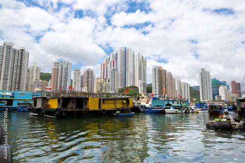 The harbour of Aberdeen - Hong Kong