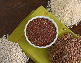Bowl of quinoa with lentils, barley, rice