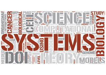 Systems biology Word Cloud Concept