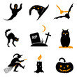 Halloween icon vector set