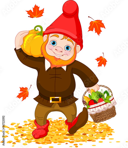 Garden Gnome with harvest