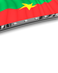 Designelement Flagge Burkina Faso