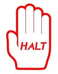 Hand halt