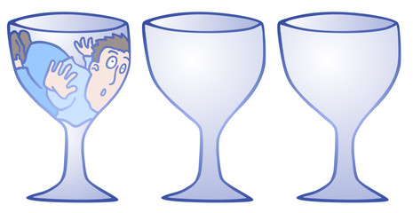 Three glass