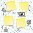 Telefon Fax Adresse E-Mail, Konzept Konzept