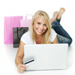 Woman shopping on the internet