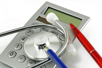 rechner mit stethoskop