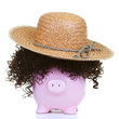 Money-box and straw hat