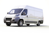 Fototapety White commercial delivery van