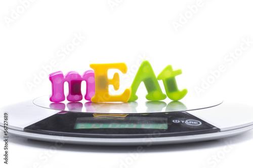 meat weight digital