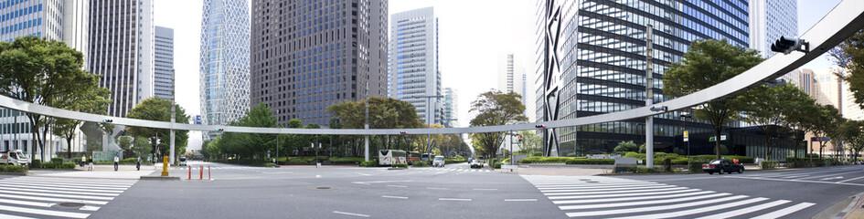 西新宿の交差点 新宿警察署裏